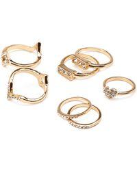 Forever 21 Rhinestone Heart Ring Set - Lyst
