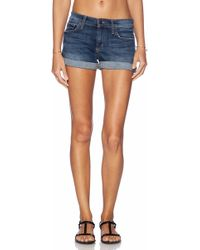 Joe's Jeans Blue Rolled Short - Lyst