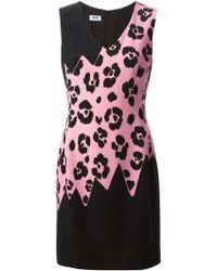 Moschino Cheap & Chic Leopard Print Panel Dress - Lyst
