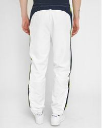 Lacoste   White Joggers With Blue/yellow Stripe   Lyst