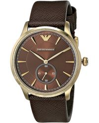 Emporio Armani Brown watches - Lyst