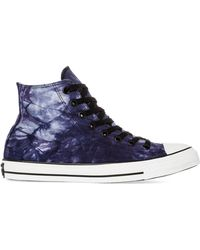 Converse The Tiedye Canvas Chuck Taylor All Star Hi Sneaker - Lyst