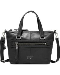 Fossil Dawson Leather Satchel black - Lyst