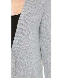 Tess Giberson - Cashmere Knit Jacket - Grey Melange - Lyst