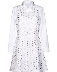 Viktor & Rolf Short Dress white - Lyst