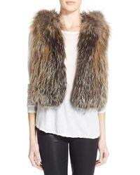 Tasha Tarno - Fox Fur Hooded Vest - Lyst