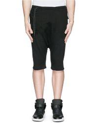 Den Im By Siki Im Off-Centre Drawstring Drop Crotch Shorts black - Lyst