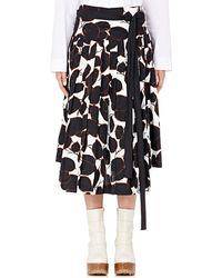 Marni | Pleated Poplin Skirt | Lyst