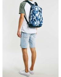 LAC - Navy And White Backpack - Lyst