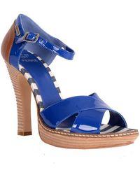 Gianfranco Ferré Criss-cross Ankle Strap Open-toe Sandal - Lyst