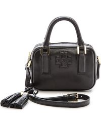 Tory Burch Thea Mini Satchel Bark - Lyst