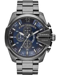 Diesel Mens Chronograph Mega Chief Gunmetal Ionplated Stainless Steel Bracelet Watch 59x51mm - Lyst