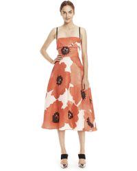 Lela Rose   Oversized Floral Gazar Full Skirt Dress   Lyst