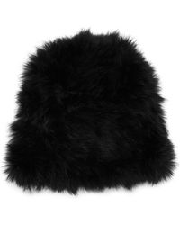 Patrizia Pepe Rabbit Fur Hat - Lyst