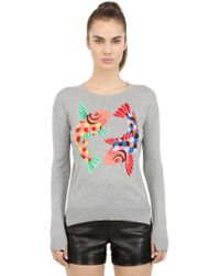 Beayukmui Intarsia Cotton & Silk Sweater - Lyst