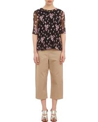 Marni Floralprint Pleated Top - Lyst