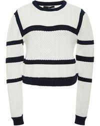 Tibi Cropped Knit Sweater - Lyst