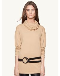 Ralph Lauren Alicia Draped Turtleneck - Lyst