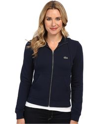 Lacoste Long Sleeve Hooded Sweatshirt - Lyst