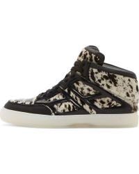 Alejandro Ingelmo Black and White Calf Hair Tron Sneakers - Lyst