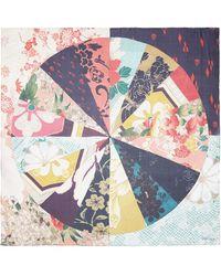 Alexander McQueen Kimono Patchwork Silk Chiffon Scarf - Lyst
