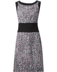 Oscar de la Renta Tweed Print Dress - Lyst