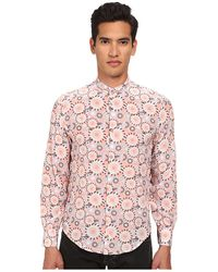 Costume National Mandarin Neck Button Up - Lyst