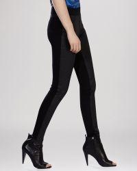 Karen Millen Jeans - Coated Super Skinny In Black - Lyst