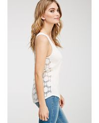 Love 21 Crochet-Back Tank - Lyst
