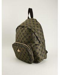 Vivienne Westwood Orb Print Backpack - Lyst