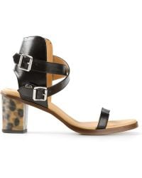 Mm6 By Maison Martin Margiela Buckled Sandals - Lyst