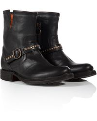 Fiorentini + Baker Leather Studded Strap Biker Boots - Lyst