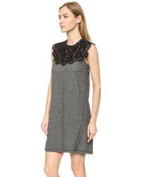 Sea Lace Combo Dress - White - Lyst