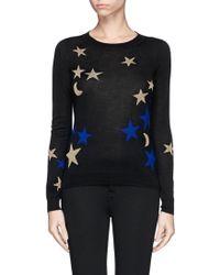 Diane Von Furstenberg Star and Moon Intarsia Sweater - Lyst