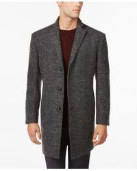 Calvin Klein | X-fit Charcoal Melange Extra-slim-fit Overcoat | Lyst