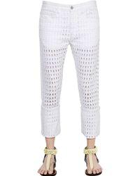 Isabel Marant Girlfriend Cutout Cotton Denim Jeans - Lyst