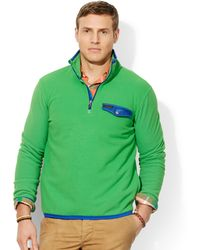 Ralph Lauren Polo Big and Tall Fleece Mockneck Pullover - Lyst