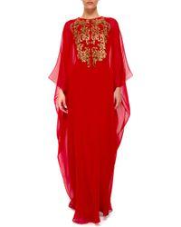 Reem Acra | Sequin Embellishment Caftan | Lyst