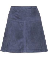 Burberry Brit - Suede Skirt - Lyst