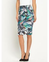 French connection Calliope Cotton Midi Skirt - Lyst