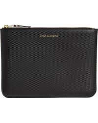 Comme Des Garçons Luxury Leather Large Zip Pouch - Lyst