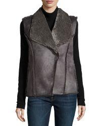 Neiman Marcus - Basic Solid Leather Blazer - Lyst