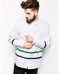 Asos Shirt in Long Sleeve with Double Panel - Lyst