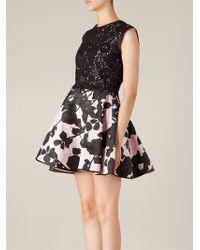 Giambattista Valli Lace and Printed Flared Dress - Lyst