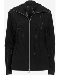 Theory Laser Cut Zip Front Jacket black - Lyst