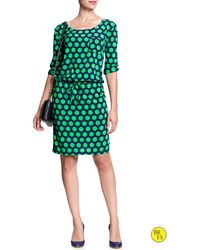 Banana Republic Factory Print Dress Cool Combo - Lyst
