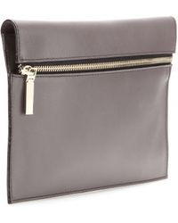 Victoria Beckham Small Zip Leather Clutch - Lyst