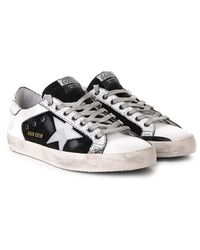 Golden Goose Deluxe Brand Super Star Leather Sneakers - Lyst