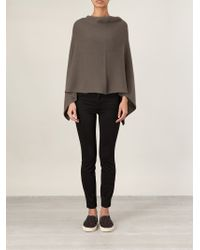 Lamberto Losani | Ribbed Knit Asymmetrical Cape | Lyst