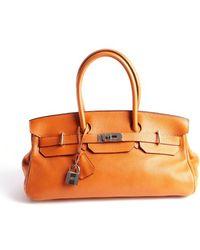 Hermès Preowned Birkin Jpg Orange Togo 42Cm - Lyst